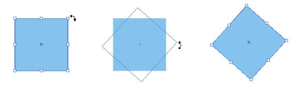ただ、これをひし形に変形しようとする場合、バウンディングボックスの操作ではうまく形がつぶれてくれないのでちょっと困ります。 ↓垂直につぶれない。